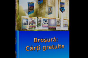 Broşura Cărţi gratuite